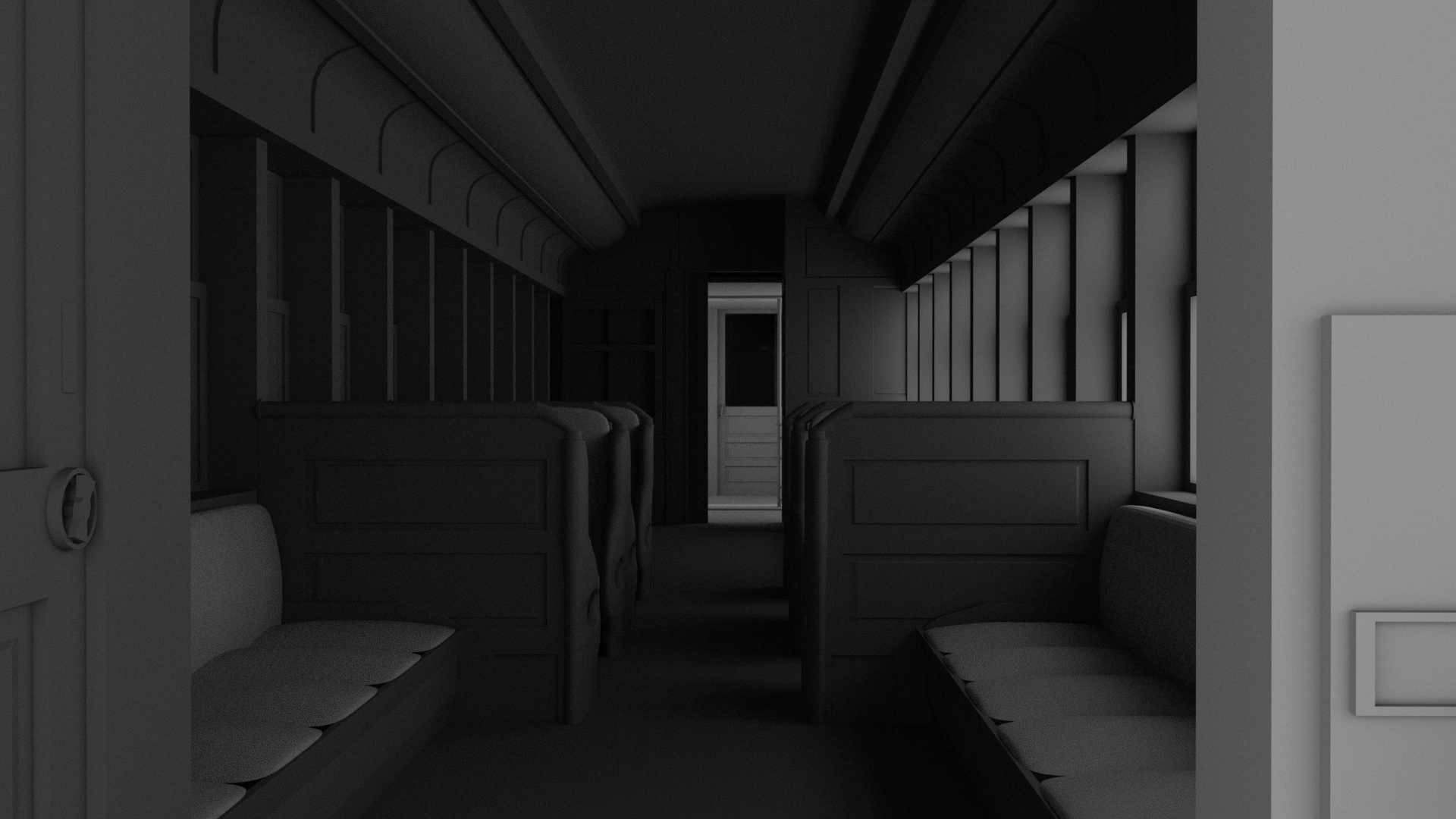 The unused interior of a train in Brooklyn Bridge VR