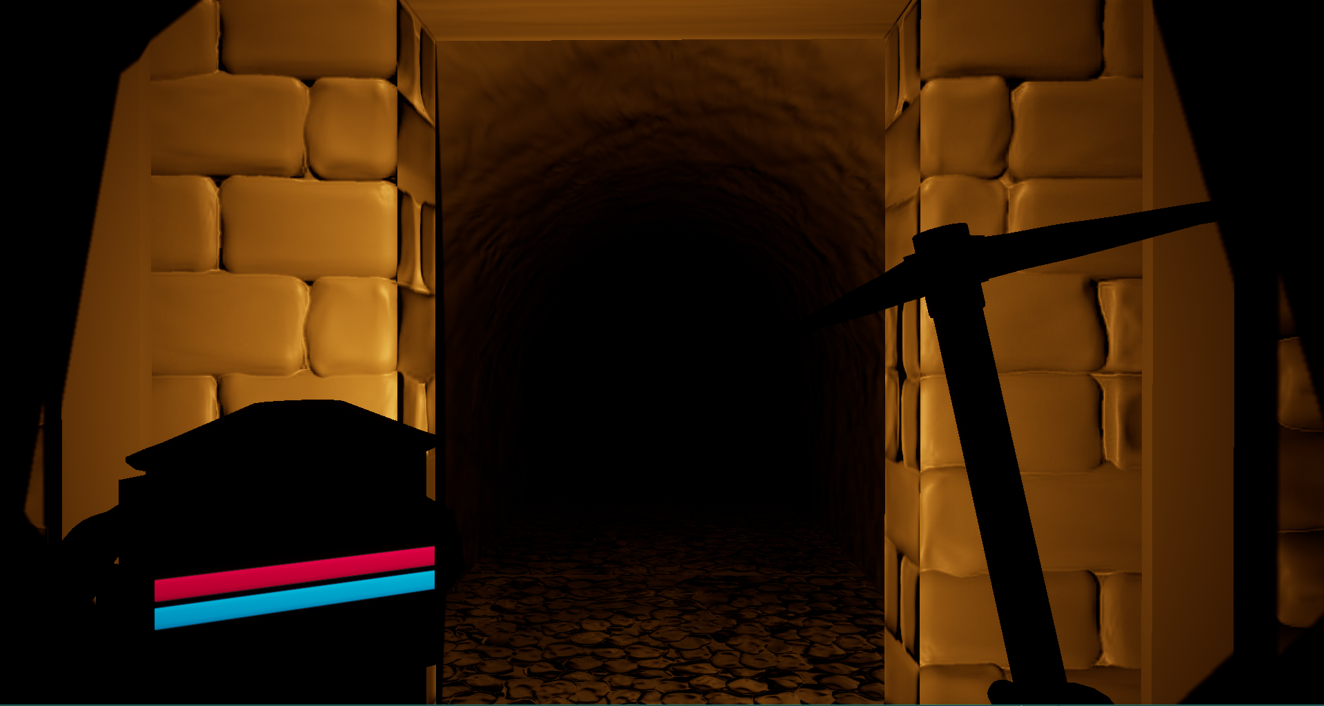 The start of the catacombs. Notice the normal-mapped textures.